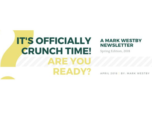 It's Officially Crunch Time! Are you ready?
